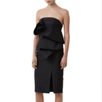 Keepsake The Label Awake Strapless Ruffle Dress in Black