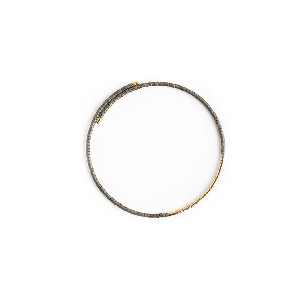 Lenny & Eva Norah Gold Bangle Bracelet in Graphite