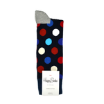 Happy Socks Big Dot Pattern in Navy and Red