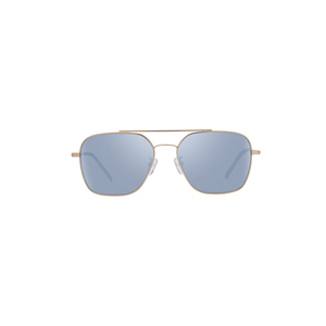 Womens DIFF Eyewear Ace Aviator Sunglasses in Gold Brush/Light Blue Flash Lens - Brother's on the Boulevard