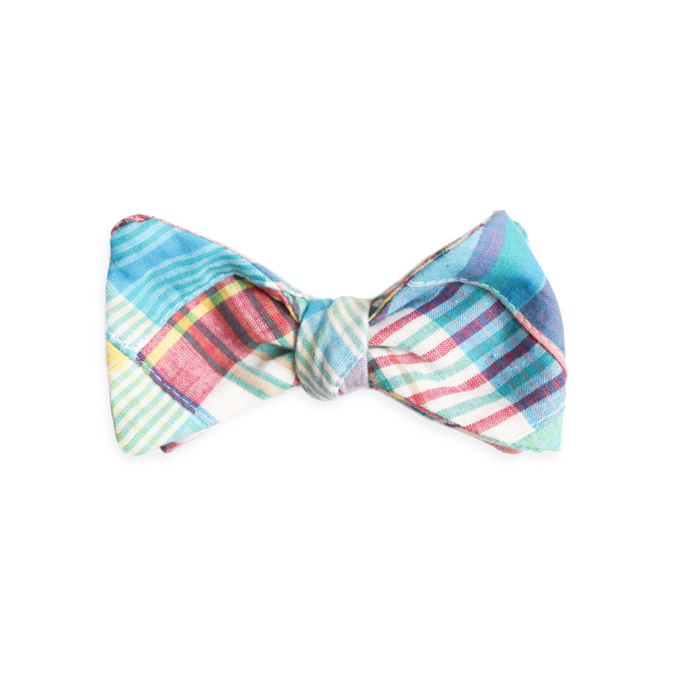 Mens High Cotton Mulligan Madras Bow Tie in Multi - Brother's on the Boulevard