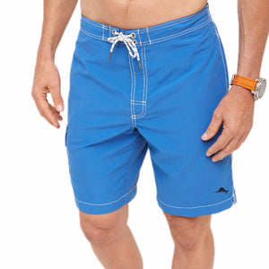 Mens Tommy Bahama Baja Poolside 9-inch Swim Trunks in Bright Cobalt - Brother's on the Boulevard