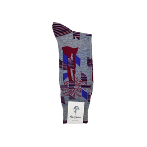 Mens Robert Graham Barbil Sock in Grey - Brother's on the Boulevard