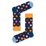 Mens Happy Socks Big Dot Sock in Orange and Pink - Brother's on the Boulevard