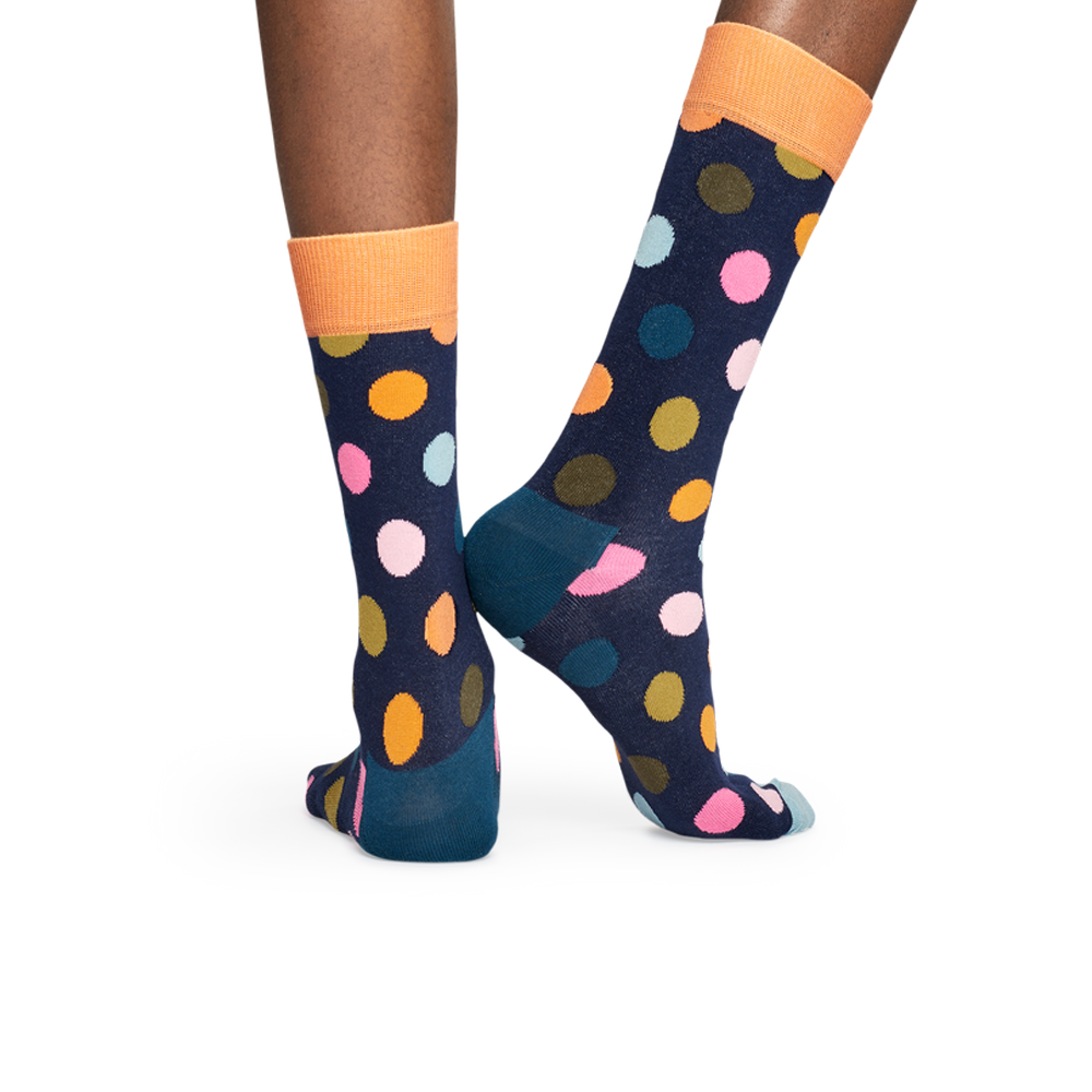 Happy Socks Big Dot Sock in Orange and Pink