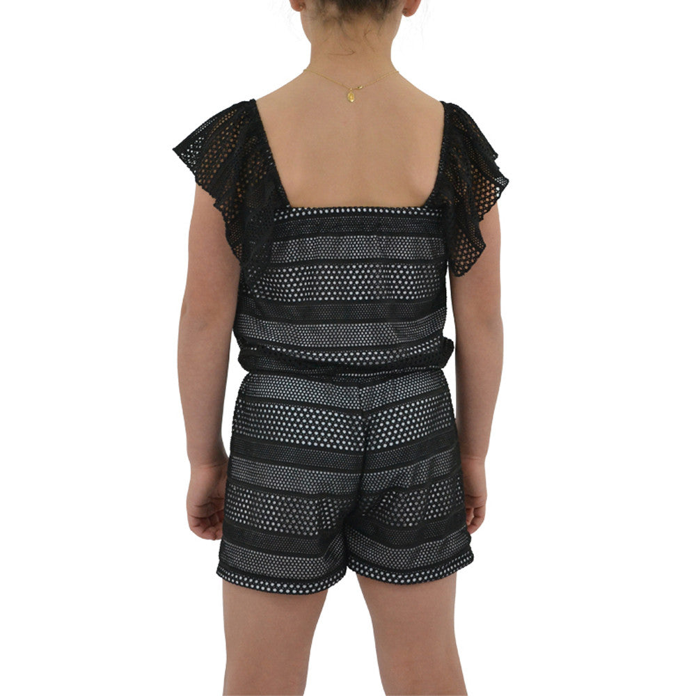 Tween Girls Catherine Kate Girls Rivera Romper in Black - Brother's on the Boulevard