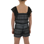 Tween Girls Tween Girls Catherine Kate Rivera Romper in Black - Brother's on the Boulevard