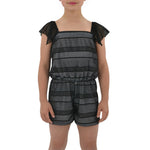 Tween Girls Catherine Kate Rivera Romper in Black