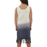 Tween Girls Weekend Vibes Girls Crochet Fringe Dress in Blue Ombre - Brother's on the Boulevard