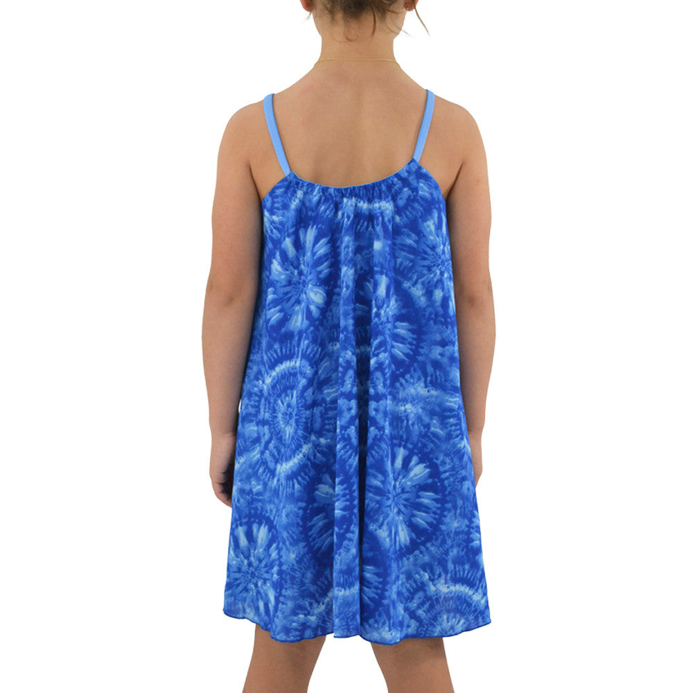 Tween Girls Tween Girls Weekend Vibes Trapeze Dress in Blue - Brother's on the Boulevard