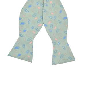 Mens Southern Proper Bluepoint Oyster Bow Tie in Green - Brother's on the Boulevard