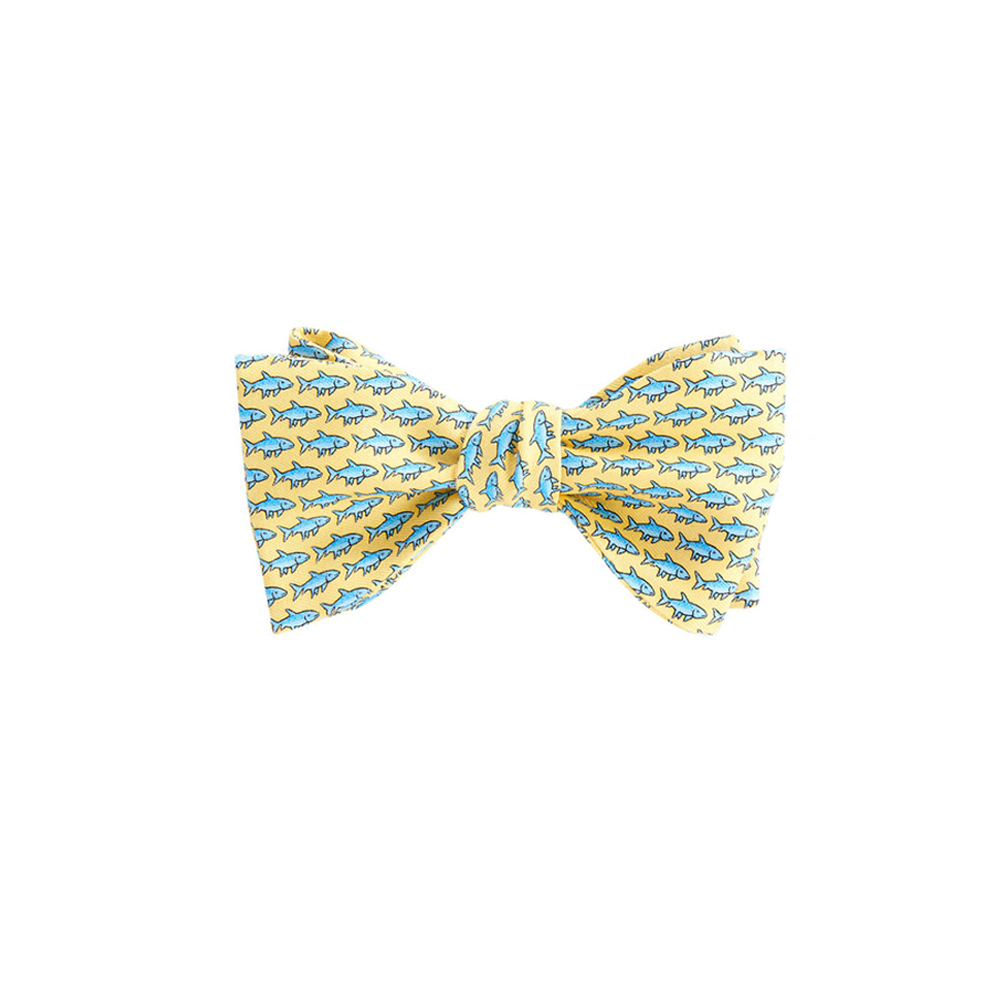 Mens Vineyard Vines Bonefish Bow Tie in Yellow - Brother's on the Boulevard