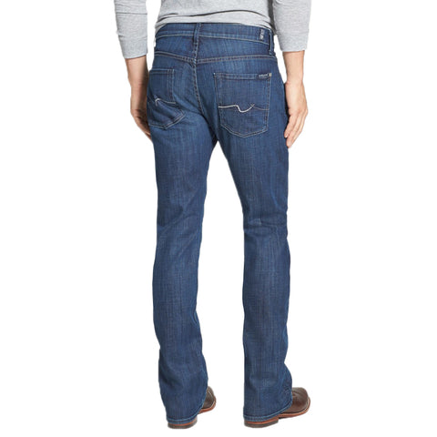Mens 7 for all Mankind Brett Bootcut Jeans  in Phantom Blue - Brother's on the Boulevard