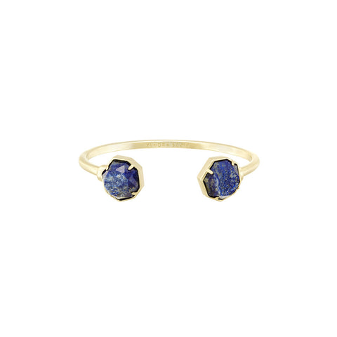 Womens Kendra Scott Brinkley Gold Bracelet in Raw Cut Lapis - Brother's on the Boulevard