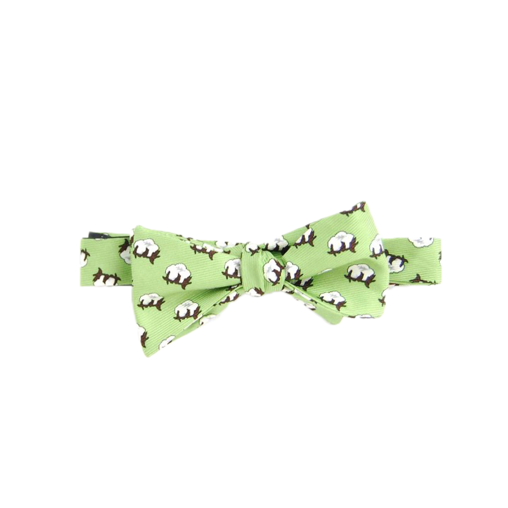 Southern Proper Cotton Boll Bowtie in Sage Green