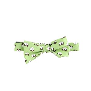 Mens Southern Proper Cotton Boll Bowtie in Sage Green - Brother's on the Boulevard