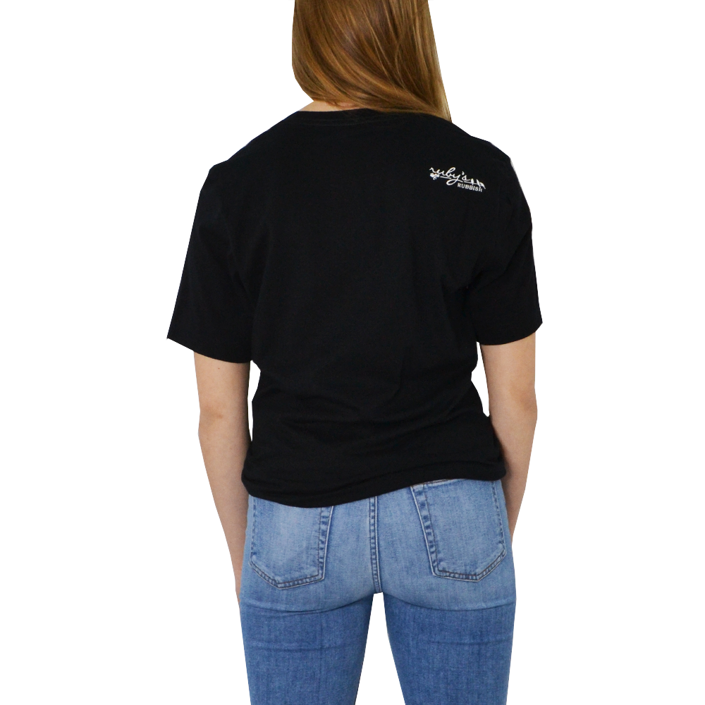 "Womens Ruby's Rubbish ""Coffee"" Tee in Black - Brother's on the Boulevard"