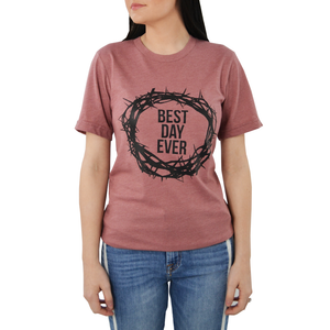"Womens Ruby's Rubbish ""Best Day Ever"" Tee in Rose - Brother's on the Boulevard"