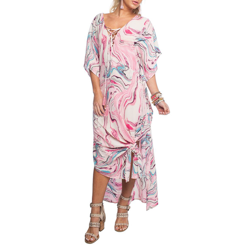 Womens Rouge Tortola CoverUp in Pink Marble - Brother's on the Boulevard