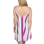 Womens Rouge Bonita Game Day Dress in Purple Stripe - Brother's on the Boulevard