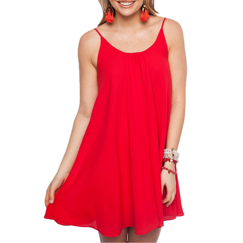 Womens Rouge Bonita Game Day Dress in Red - Brother's on the Boulevard