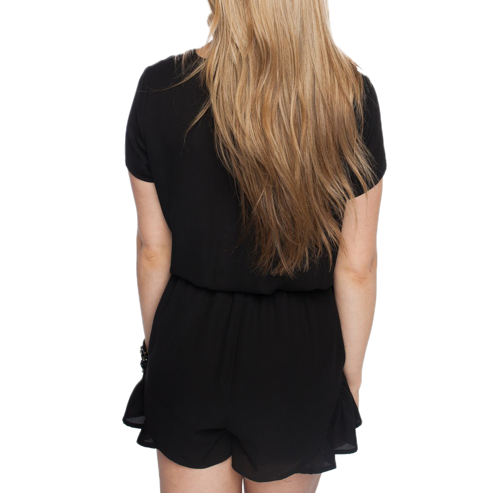 Womens Rouge Rush Romper in Black - Brother's on the Boulevard