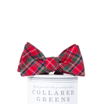 Collared Greens Prince of Wales Bow Tie in Red