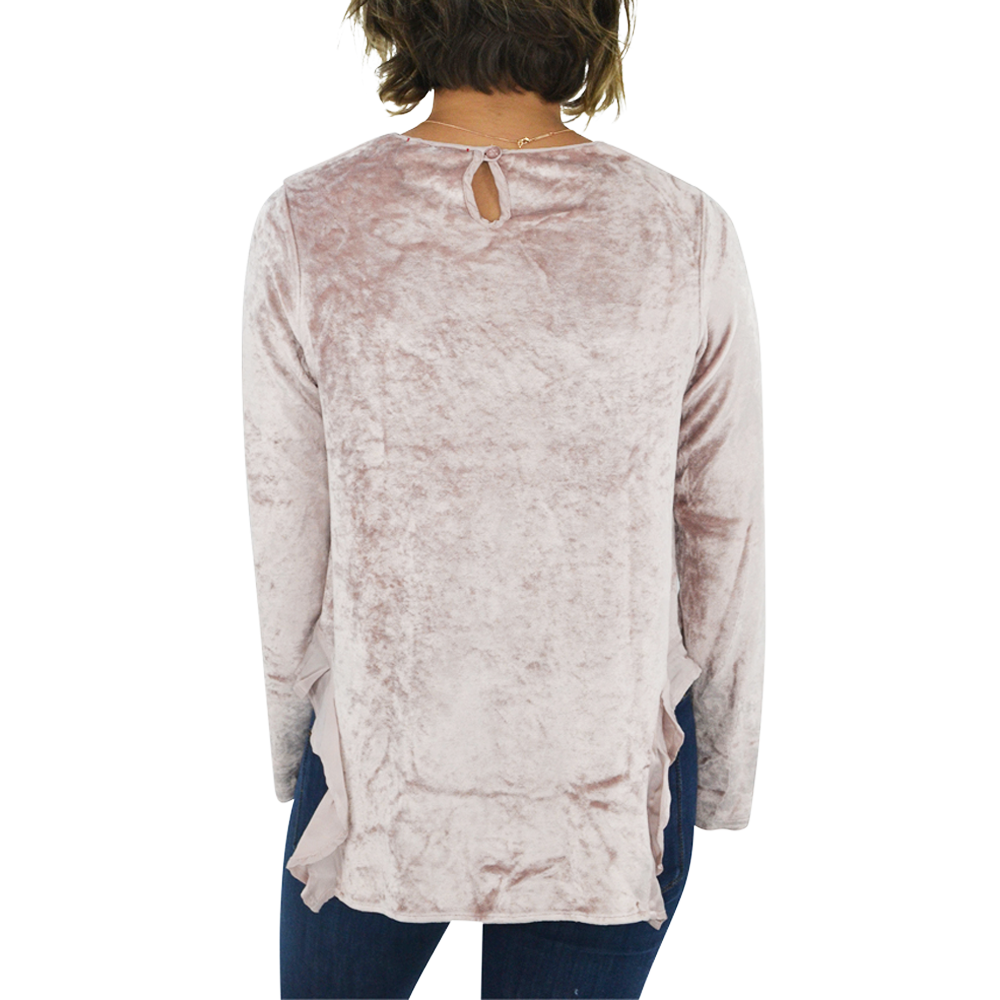 Womens Catherine Kate Ruffle Top in Ballet Pink - Brother's on the Boulevard