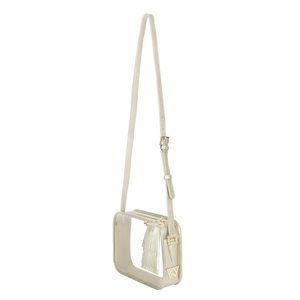 Womens Kelly Wynne Clear Mingle Mingle Mama Crossbody Bag with Tassel in Moon - Brother's on the Boulevard