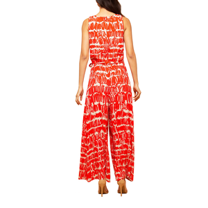 Womens Eva Franco Sunny Jumpsuit in Red Script - Brother's on the Boulevard