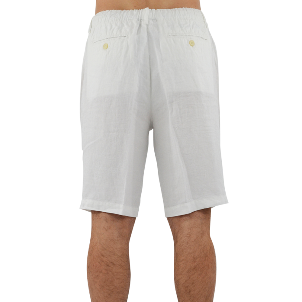 Mens Margaritaville Cabana Linen Short in Cream - Brother's on the Boulevard
