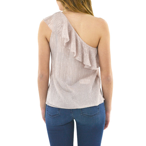 Waverly Grey Callie One-Shoulder Top in Pink