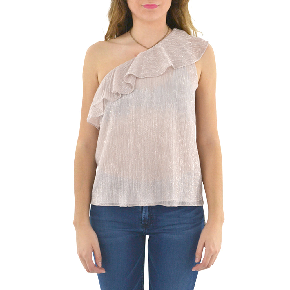 Womens Waverly Grey Callie One-Shoulder Top in Pink - Brother's on the Boulevard