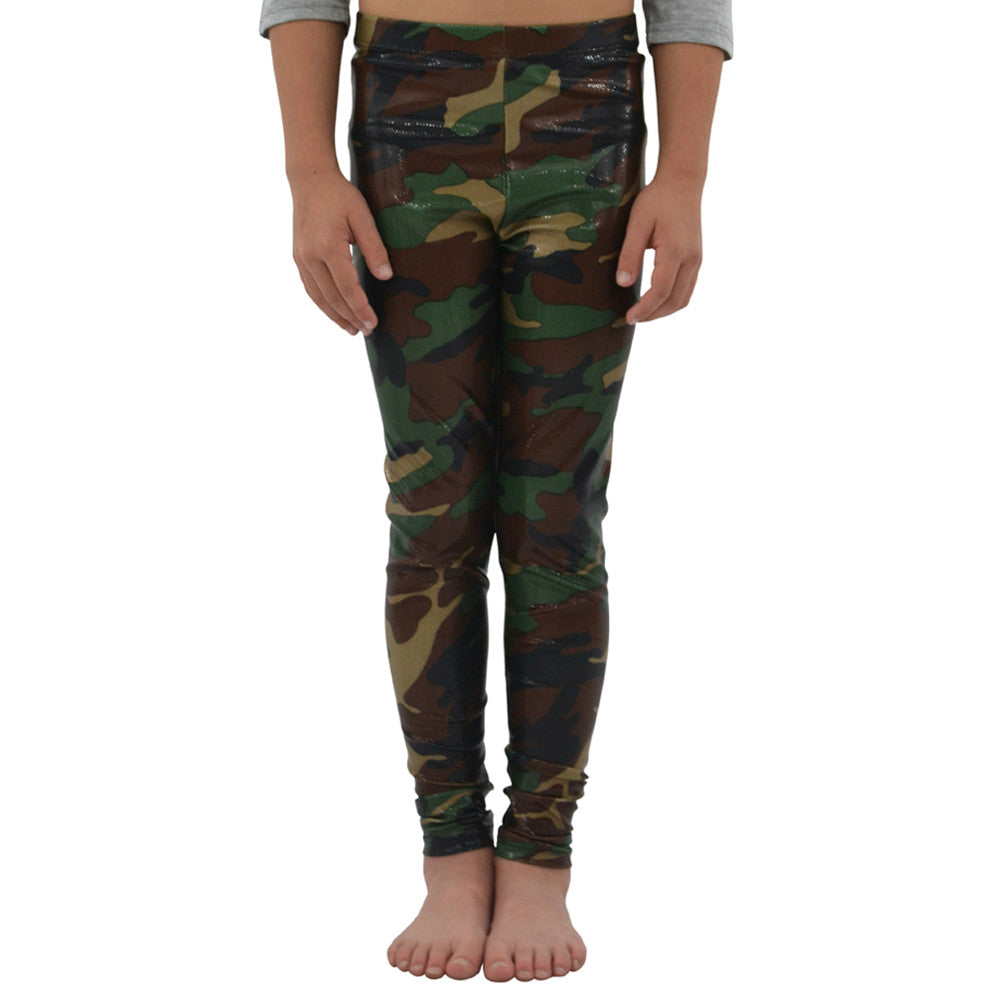 Weekend Vibes Girls Stretchy Leggings in Camouflage