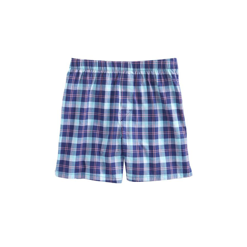 Mens Vineyard Vines Cappoons Plaid Boxers in Deep Cobalt - Brother's on the Boulevard