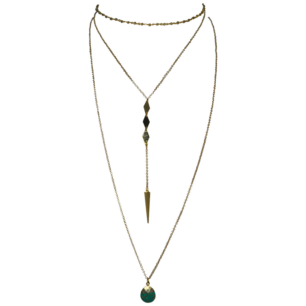 Womens Shira Melody Christina Layering Necklace in Jade - Brother's on the Boulevard