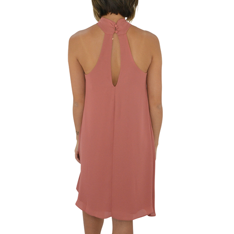 Catherine Kate Clara Front Tie Dress in Mauve