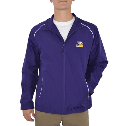 Cutter & Buck LSU Tiger Eye WeatherTec Jacket in Purple