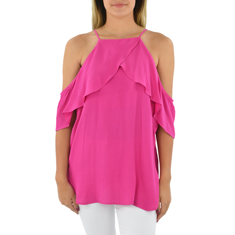 Womens Fifteen Twenty Cold Shoulder Top in Pink - Brother's on the Boulevard