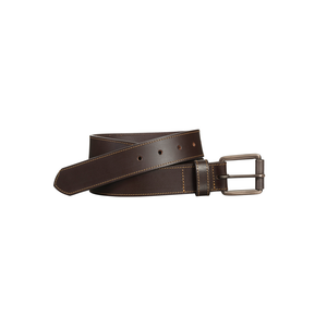 Mens Johnston & Murphy Contrast Stitch Belt in Black - Brother's on the Boulevard