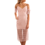 Keepsake The Label Countdown Lace Dress in Blush