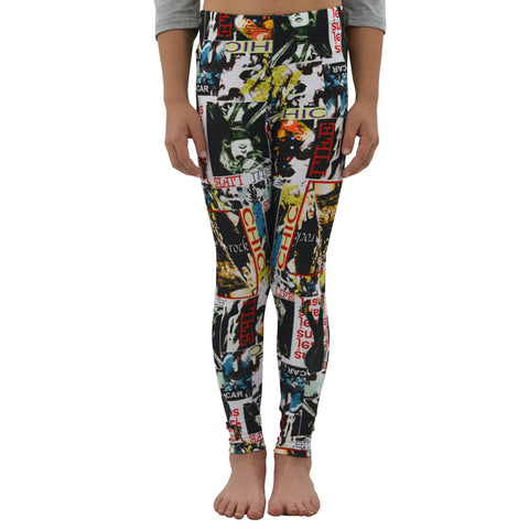 Weekend Vibes Cover Girl Leggings in Multi