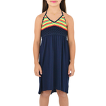 Weekend Vibes Girls Crochet Dress in Reggae Island Tropical