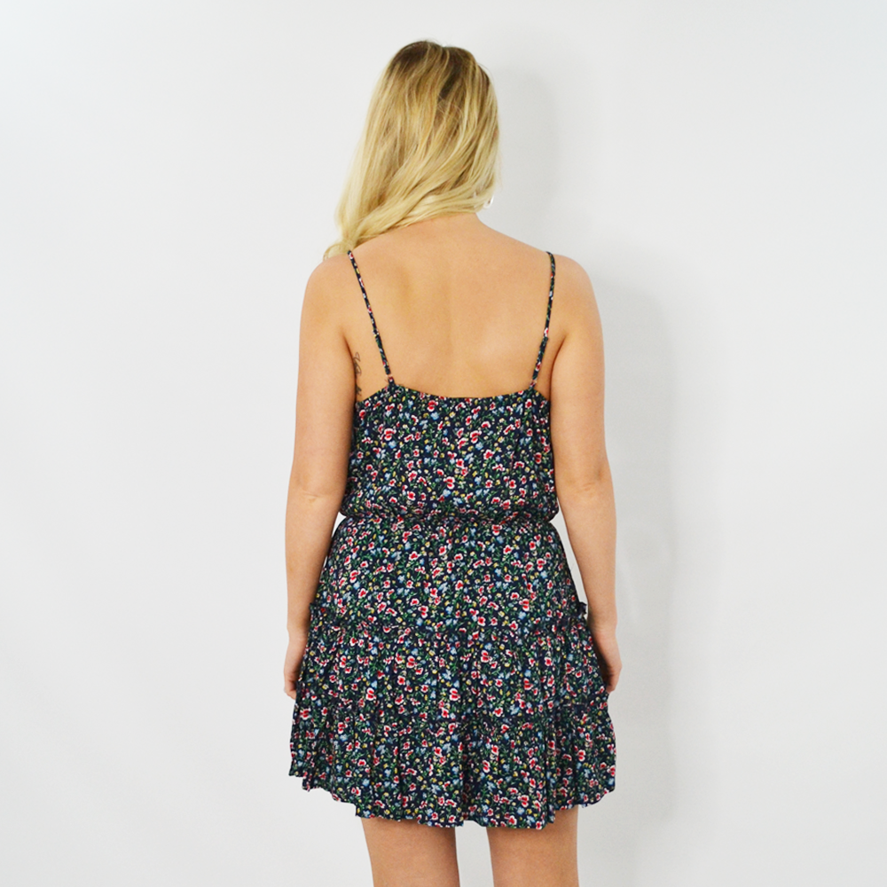 Womens Rouge Floral Spring Dress in Navy - Brother's on the Boulevard