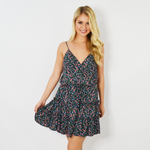 Rouge Floral Spring Dress in Navy