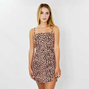 Womens Rouge Nya Leopard Dress in Pink - Brother's on the Boulevard