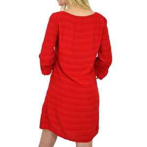 Womens Michael Stars V Neck 3/4 Sleeve Shift Dress in Salsa - Brother's on the Boulevard