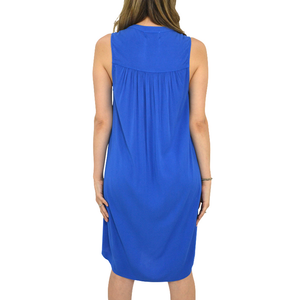 Womens Michael Stars Split Neck Dress in Marina - Brother's on the Boulevard