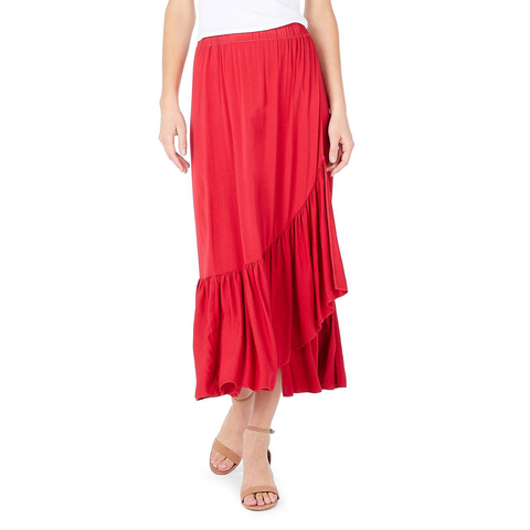 Womens Michael Stars Rayon Wrap Midi-Skirt in Hacienda - Brother's on the Boulevard