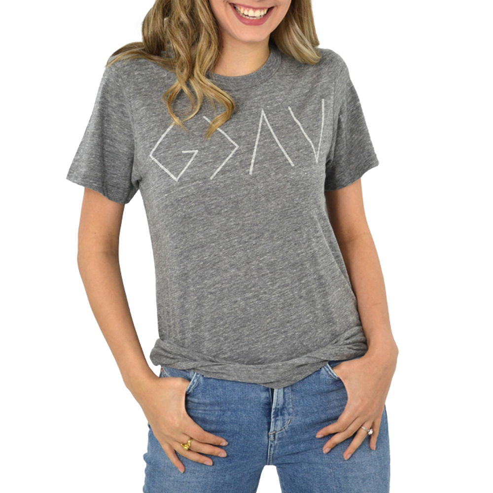 Womens The Light Blonde God is Greater Tee in Grey - Brother's on the Boulevard